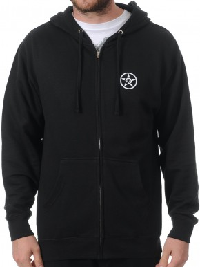 UNIT - ESSENTIAL ZIP HOODIE BLACK