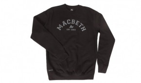 MACBETH - VARSITY CREWNECK BLACK