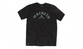 MACBETH - VARSITY TEE BLACK