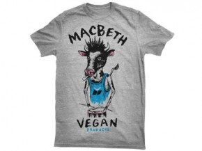 MACBETH - VEGAN PUNK TEE HEATHER GREY/BLUE