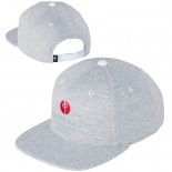 RED DRAGON - LUXURY POINT SNAPBACK HEATHER GREY/RED