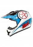 UNIT - X2.6 LINGUISTIC MX HELMET BLUE/GRY