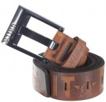UNIT - CRANK LEATHER BELT BROWN