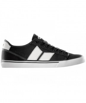MACBETH - JAMES BLACK-WHITE CANVAS/SYNTHETIC LEATHER SHOE