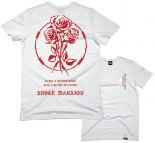 SHOCK MANSION - WHITE ROSE BLACK SHADOW TEE WHITE