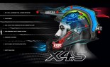 UNIT - X4.5 ALLIANCE MX HELMET BLACK/SILVER